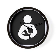 Breastfeeding Symbol (black) Wall Clock