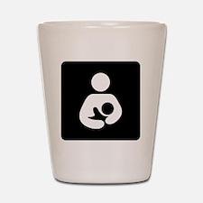 Breastfeeding Symbol (black) Shot Glass