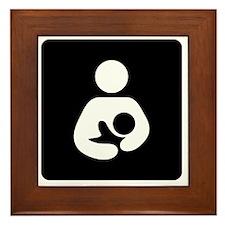 Breastfeeding Symbol (black) Framed Tile
