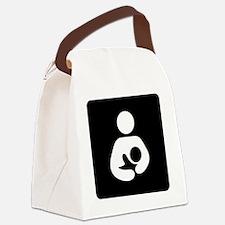 Breastfeeding Symbol (black) Canvas Lunch Bag