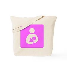 Breastfeeding Symbol [Pink] Tote Bag