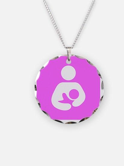 Breastfeeding Symbol [Pink] Necklace