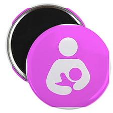 Breastfeeding Symbol [Pink] Magnet