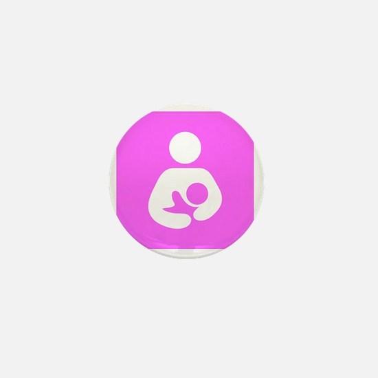 Breastfeeding Symbol [Pink] Mini Button