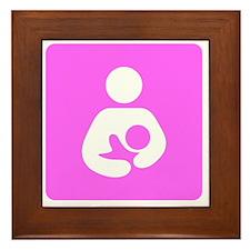 Breastfeeding Symbol [Pink] Framed Tile