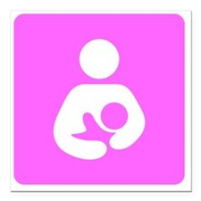 "Breastfeeding Symbol [Pi Square Car Magnet 3"" x 3"""