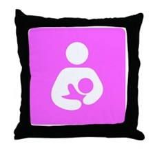 Breastfeeding Symbol [Pink] Throw Pillow