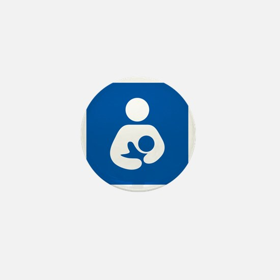 Breastfeeding Symbol [blue] Mini Button