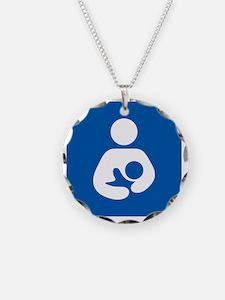 Breastfeeding Symbol [blue] Necklace