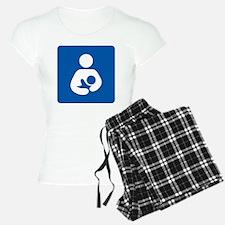 Breastfeeding Symbol [blue] Pajamas