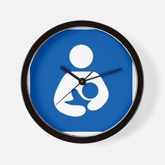 Breastfeeding Symbol [blue] Wall Clock