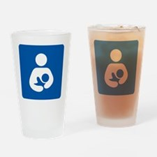 Breastfeeding Symbol [blue] Drinking Glass