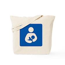 Breastfeeding Symbol [blue] Tote Bag