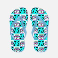 75TH BIRTHDAY Flip Flops