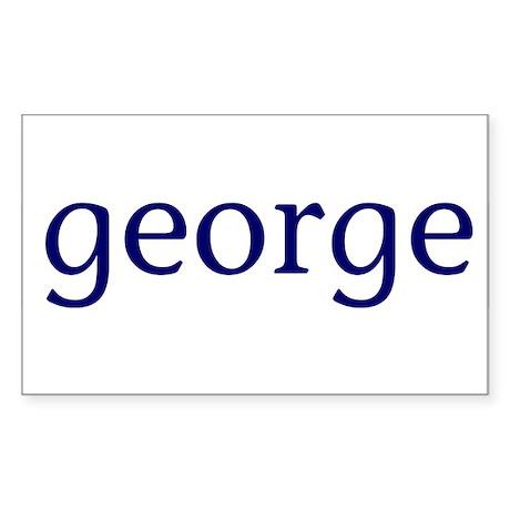 George Rectangle Sticker