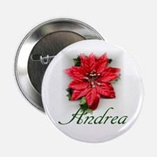"Poinsettia Andrea 2.25"" Button (10 pack)"