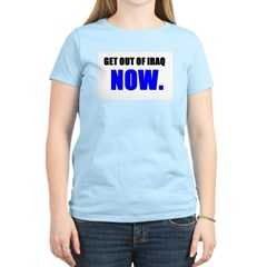 Get out of Iraq NOW Women's Pink T-Shirt