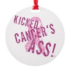 Kicked Cancer's Ass Ornament