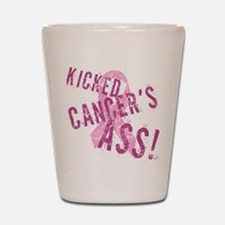 Kicked Cancer's Ass Shot Glass