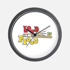 Trombone Loud Wall Clock