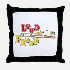 Trombone Loud Throw Pillow
