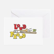 Trombone Loud Greeting Card