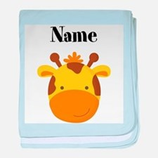 Personalized Giraffe baby blanket