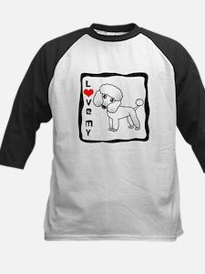 I Love My Poodle White Coat Baseball Jersey