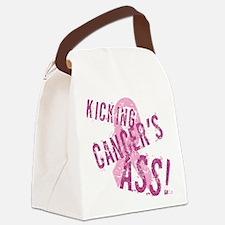 Kicking Cancer's Ass Canvas Lunch Bag