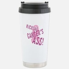 Kicking Cancer's Ass Stainless Steel Travel Mug
