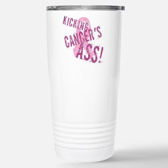 Kicking Cancer's Ass Stainless Steel Travel Mug