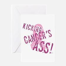 Kicking Cancer's Ass Greeting Card