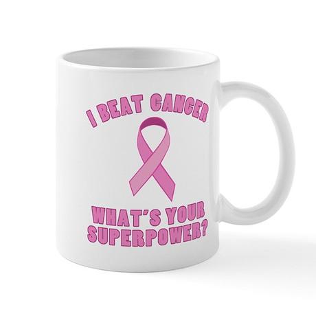I Beat Cancer Superpower Mug