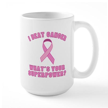 I Beat Cancer Superpower Large Mug