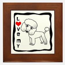 I Love My Poodle White Coat Framed Tile