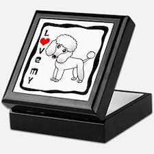 I Love My Poodle White Coat Keepsake Box