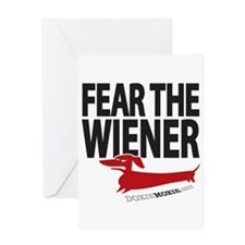 Fear the Wiener Greeting Card