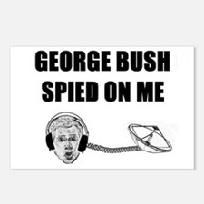 George Bush Spied on Me Postcards (Package of 8)