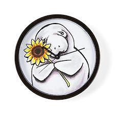 Sunny Manatee Wall Clock