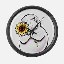 Sunny Manatee Large Wall Clock