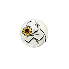 Sunny Manatee Mini Button (100 pack)