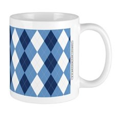 UNC Basketball Argyle Carolina Blue Mugs