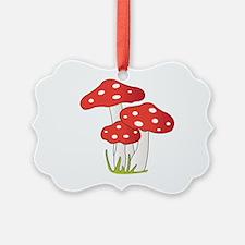 Polka Dot Mushrooms Ornament