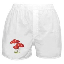 Polka Dot Mushrooms Boxer Shorts