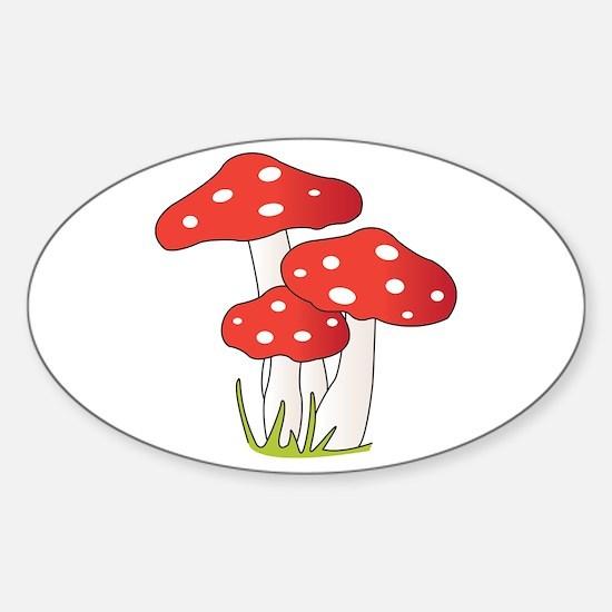 Polka Dot Mushrooms Decal