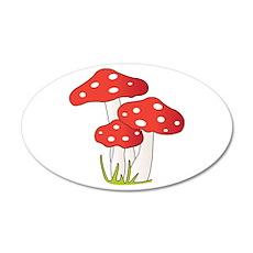Polka Dot Mushrooms Wall Decal