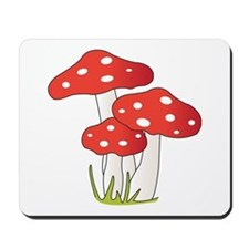 Polka Dot Mushrooms Mousepad