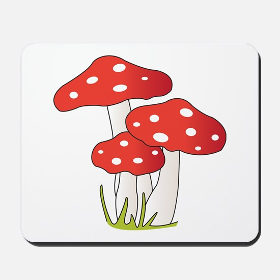 Polka Dot Mushrooms Mousepad
