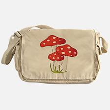 Polka Dot Mushrooms Messenger Bag