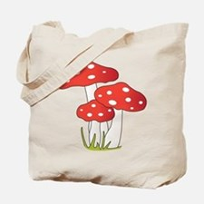 Polka Dot Mushrooms Tote Bag